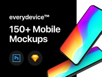 everydevice™ // 150+ Generic Mobile Mockups