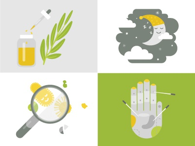 Natural Health Remedies icons illustration icon health traditional medicine medicine