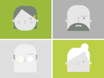 Portraits (from Natural Health Remedies Infographic) wip illustration portrait people icons