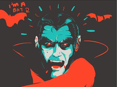 Vampire W.I.P. (for Molson Canadian) vampire portrait negative space illustration dracula