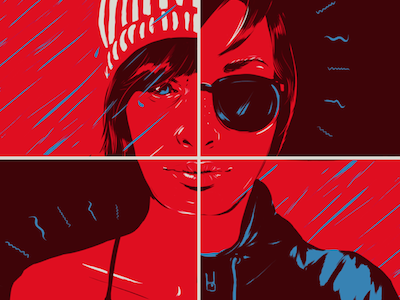 Layer Up for Weather Changes molson beer portrait illustration