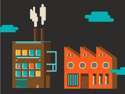 WIP For inBusiness Magazine icon building icons factory