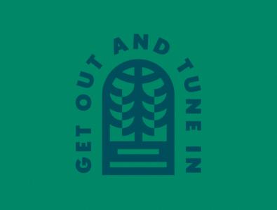 GET OUT ↟ TUNE IN design icon graphic design illustration