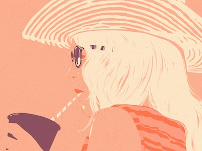 'Summer' portrait illustration
