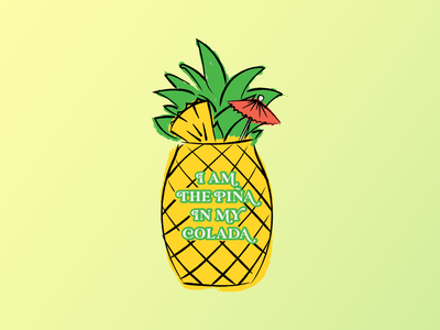 ILLUSTRATION | apparel design rum booze alcohol design lettering type typography chicago smallbusiness entrepreneurs entrepreneur black-owned business apparel design apparel pina colada pineapple manifesting cocktails cocktail illustration