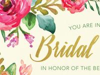 INVITATION | floral bridal shower invite