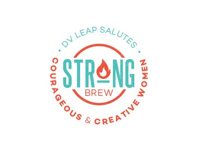 LOGO | strong brew flame fire design type non profit typography round circular circle mark identity logo