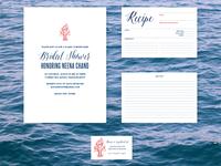 INVITATION | Nautical Lobster Bake Bridal Shower Invitation