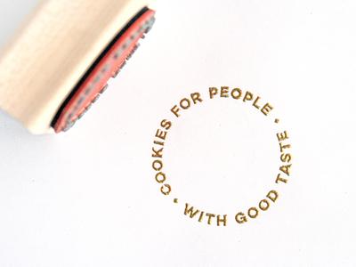 BRANDING | custom rubber stamp bakery cookie cookies small business rubber stamp stamp custom stamp gold foil logo branding typography