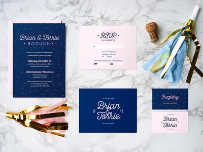 Milwaukee Wedding Invitation Suite lockup type typography hoan bridge milwaukee invitation design invitation beer invite wedding invitation wedding