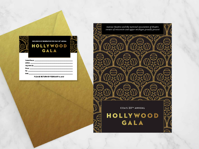 Non-Profit Gala Invitation Suite wisconsin milwaukee hollywood not for profit non-profit gala rsvp invitations marketing event branding event invitation