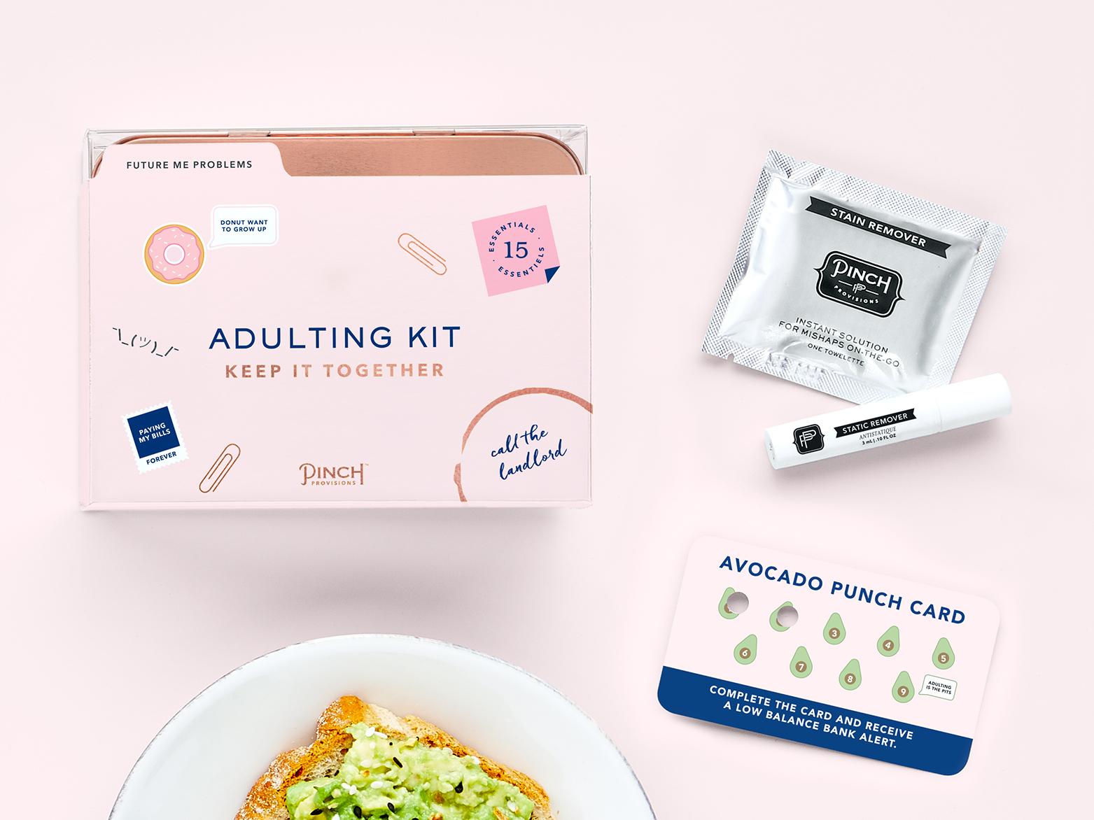 Kristy black design adulting packaging design illustration