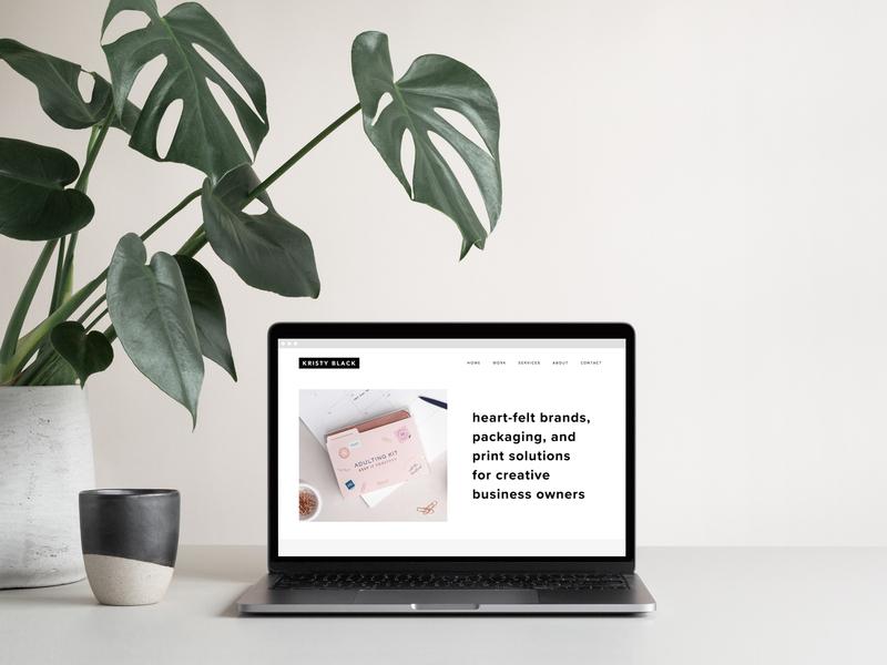 WEBSITE | Kristy Black Creative monsterra branding packaging print portfolio squarespace website design website