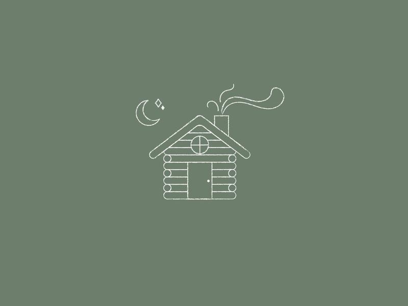 ILLUSTRATION | cabin illustrator design vector illustrator illustrations outdoors camping nature stars moon illustration mountains cabin
