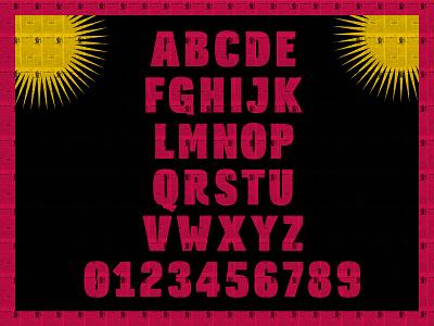 Alvorada Bold fontlab glyphs set caractere type design specimen illustration type tipografia graphic design display typography font design