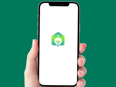 smart home businesslogo electricity electric design logomark logo design 3d green unique lamp smarthome simple logo smart illustrator vector home motion graphics branding logo graphic design
