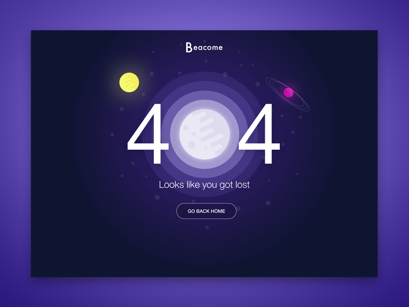 Daily UI #008 lost error web ui challenge 404 daily ui