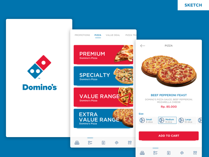 Freebies - Dominos Pizza Redesign Concept apps food pizza domino app ios ux ui