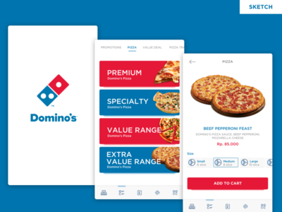 Freebies - Dominos Pizza Redesign Concept
