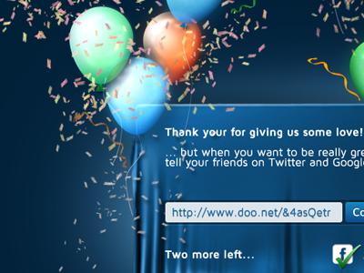 Hooooooray, beta sign-up form sign up beta doo.net balloons party