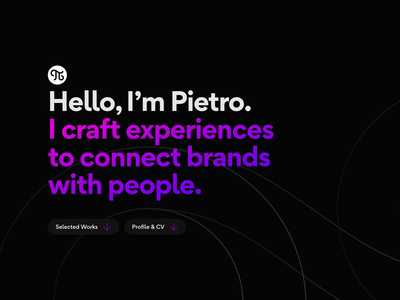 Portfolio designer portfolio portfolio page works animejs purple magenta black ui design designer cv portfolio design portfolio site portfolio