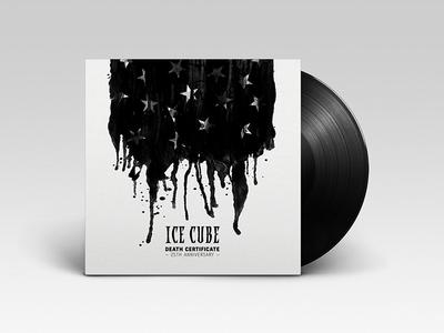 Bleeding Flag Cover flag america ink illustration graphic design cover record album certificate death ice cube