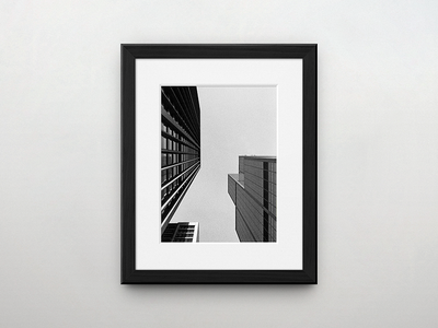 TDKOL Preview #1 white black 35mm square photo skyscraper quadro picture mock-up exhibition photography tdkol