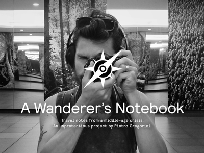 A Wanderer's Notebook compass notes photography project cover splash blog travel