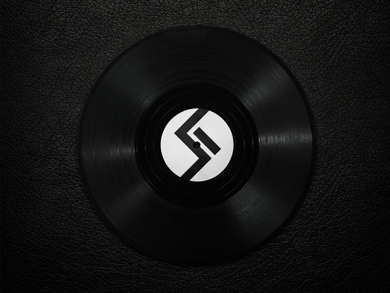 Solo Records geometric logo music artwork music record label record leather black vinyl record vinyl logo design logo