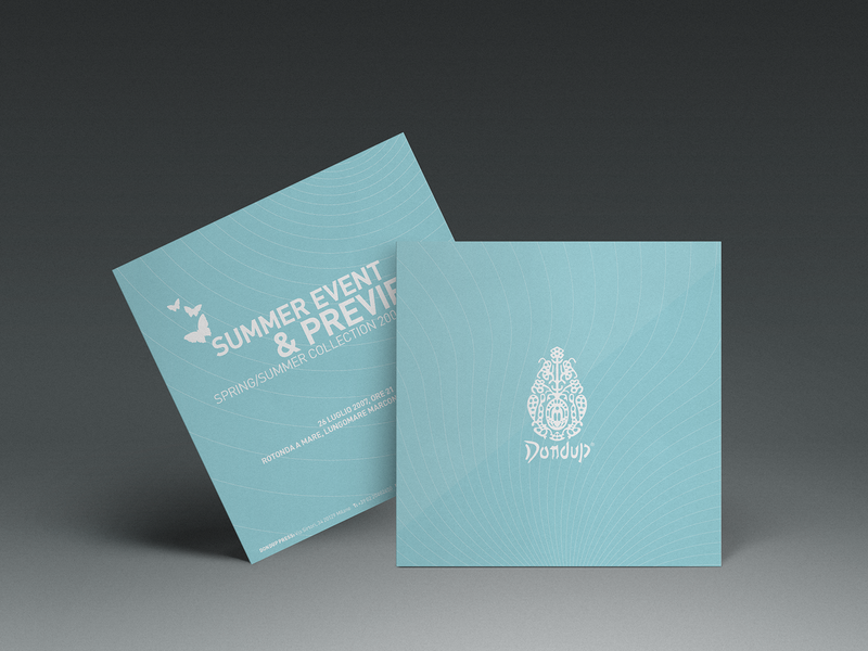 Fashion Invitation Card event design event card pattern graphic butterfly illustration turquoise cyan rsvp dondup invitation card invitation fashion