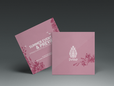 Fashion Invitation Card purple pink decorative decoration engraving engrave event design event card pattern graphic butterfly illustration rsvp dondup invitation card invitation fashion