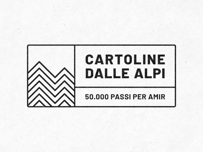 Cartoline dalle Alpi pattern lines onlus pro-bono advertising campaign brand identity brand alps mountains logo design logo migrants