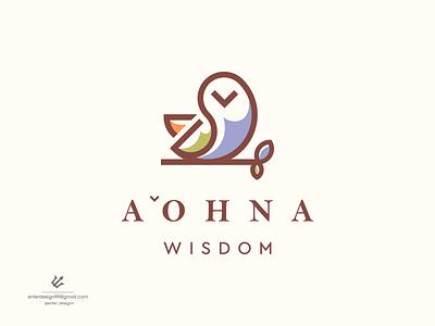 Owl logo design bird owl motion graphics 3d graphic design animation ui vector illustration branding monogram logo letter simple design logo elegant