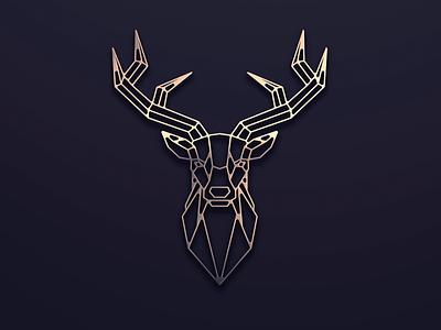 Deer logo design animal deer vector ui illustration monogram logo branding letter simple elegant design logo