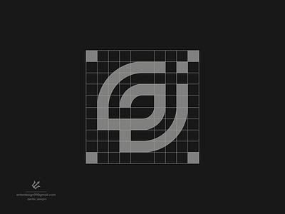 monogram logo vector ui illustration monogram logo branding letter simple elegant design logo