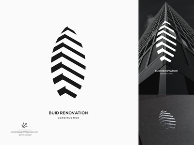 building vector ui illustration monogram logo branding letter simple elegant design logo