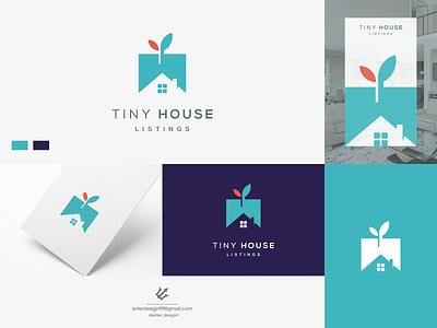 House vector ui illustration monogram logo branding letter simple elegant design logo
