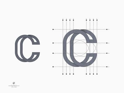 Leter C logo vector ui illustration monogram logo branding letter simple elegant design logo