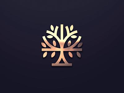 Tree Logo Inspiration logos tree vector ui illustration monogram logo branding letter simple elegant design logo