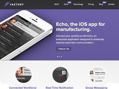 iOS app + Marketing site