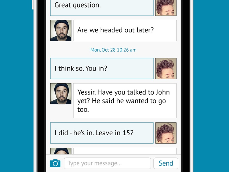 Chat View, Troisième Partie chat ios7 ios layout design interface ui ui design messaging