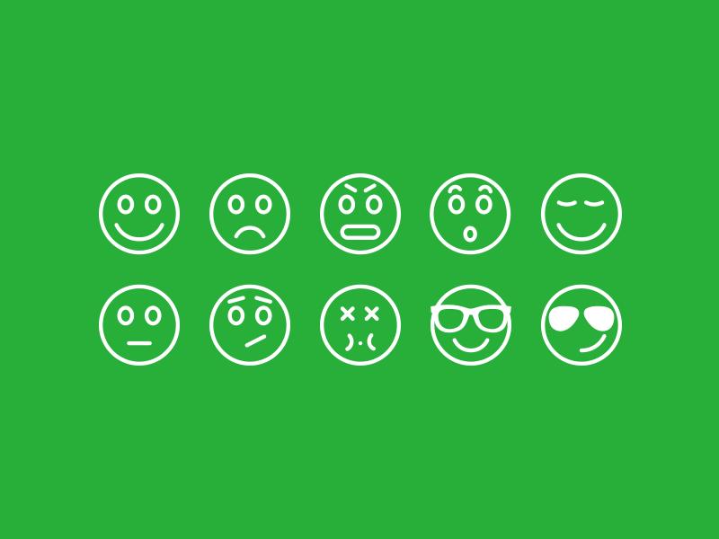 Emoticons chat ios7 icons emoticons emoticon icon set ios design interface ui ui design messaging