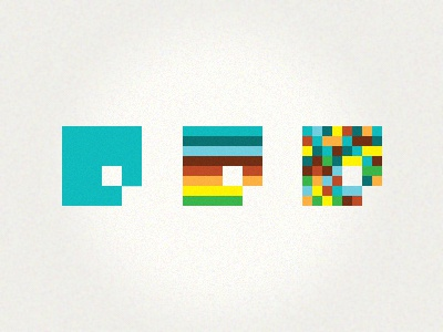 Working an identity logo identity mark illustrator pixelated pixels