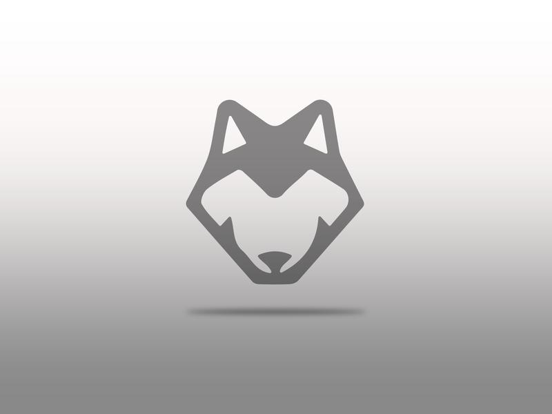 The Gray Wolf flat icon vectorart vector illustration logo design logo