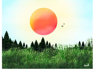 Green nature graphic design