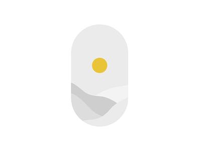 Desert Sun branding icon design flat vectorart vector logo illustration