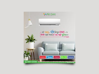 Air conditioner Service Company Post Design design illustration promotional ad design cover design post design ad design social media post design graphic design