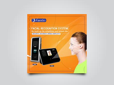 Facial Recognition System Social Media Post Design social media post design post design banner design ad design graphic design