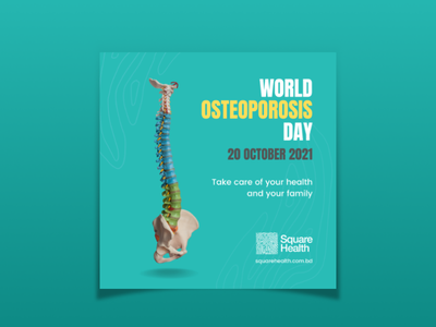 Osteoporosis Day Post typography social media ads days health awareness day health day osteoporosis day osteoporosis day post
