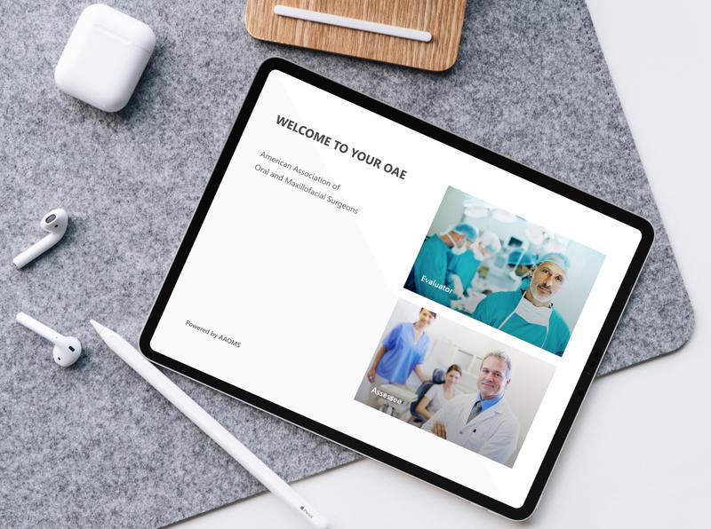 AAOMS health app branding design mobile app minimal ux ui